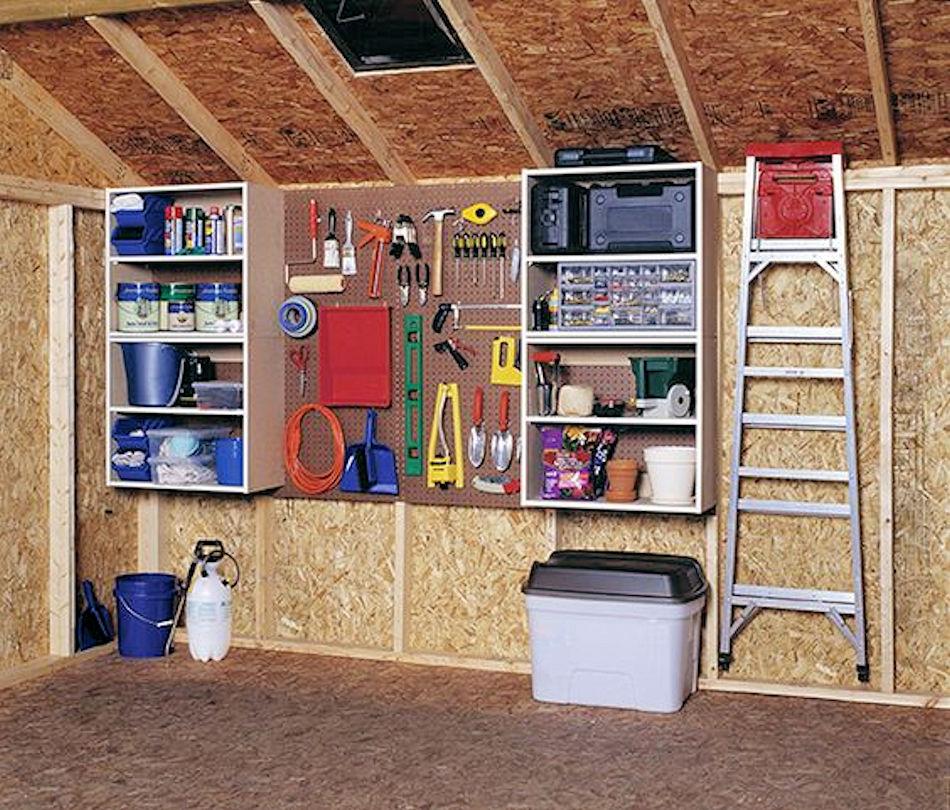 how to organize your garage raber portable storage barns. Black Bedroom Furniture Sets. Home Design Ideas