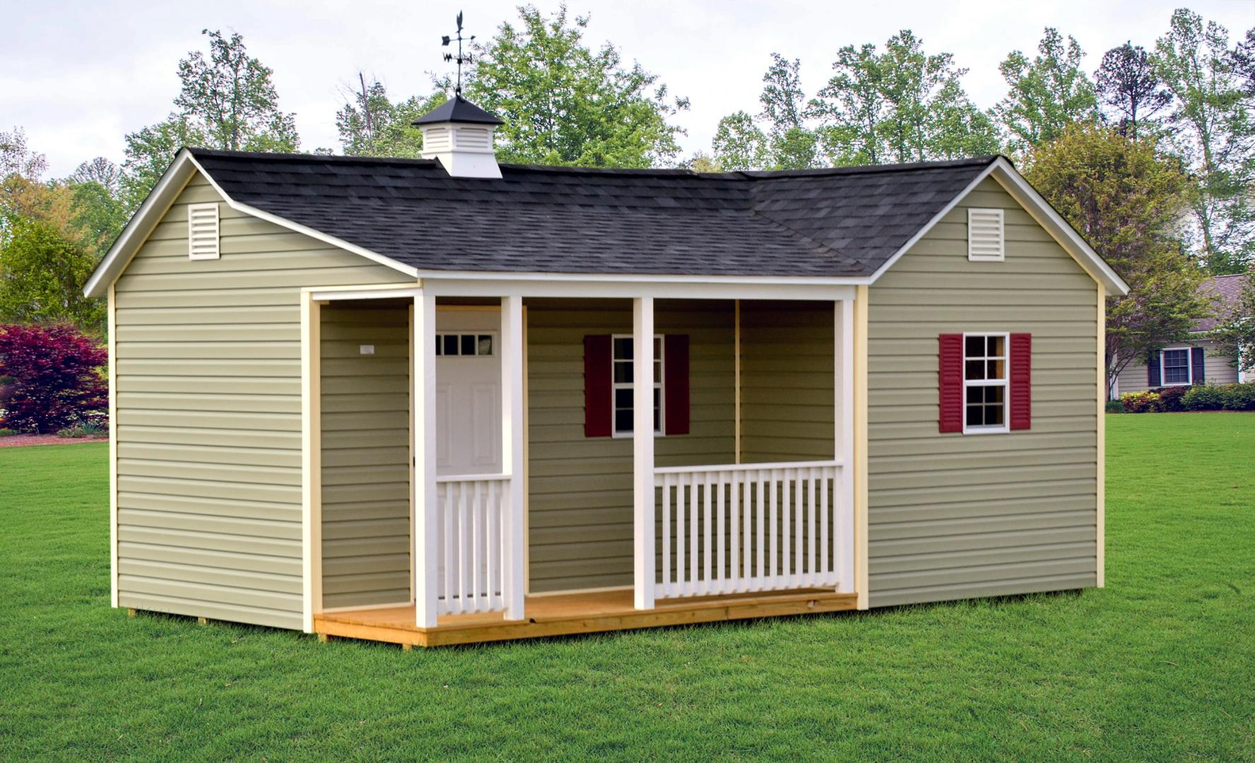 Hip Roof Garage Combo Sheds Raber Portable Storage Barns