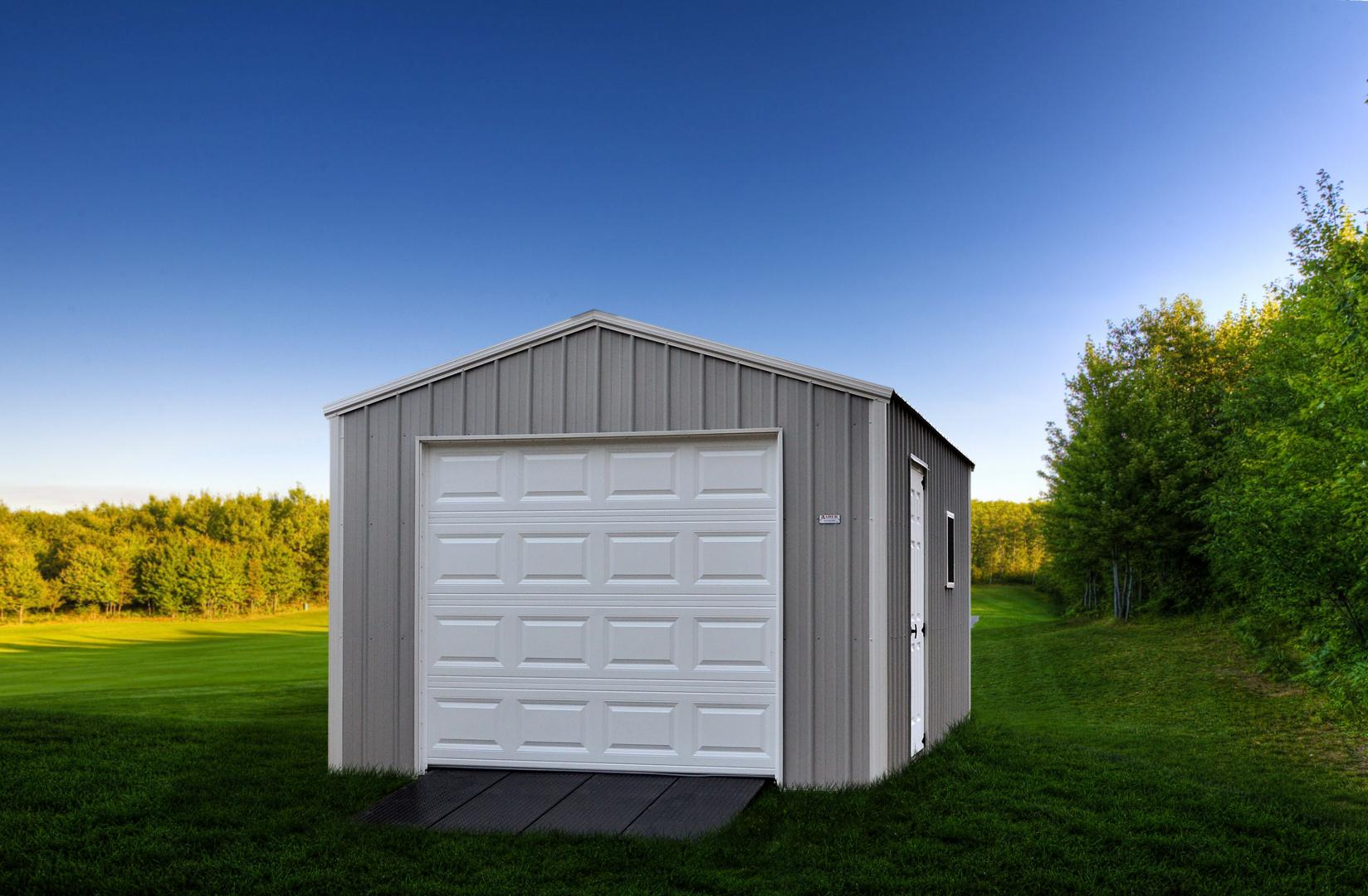 One and Two Car Garages | Raber Portable Storage Barns