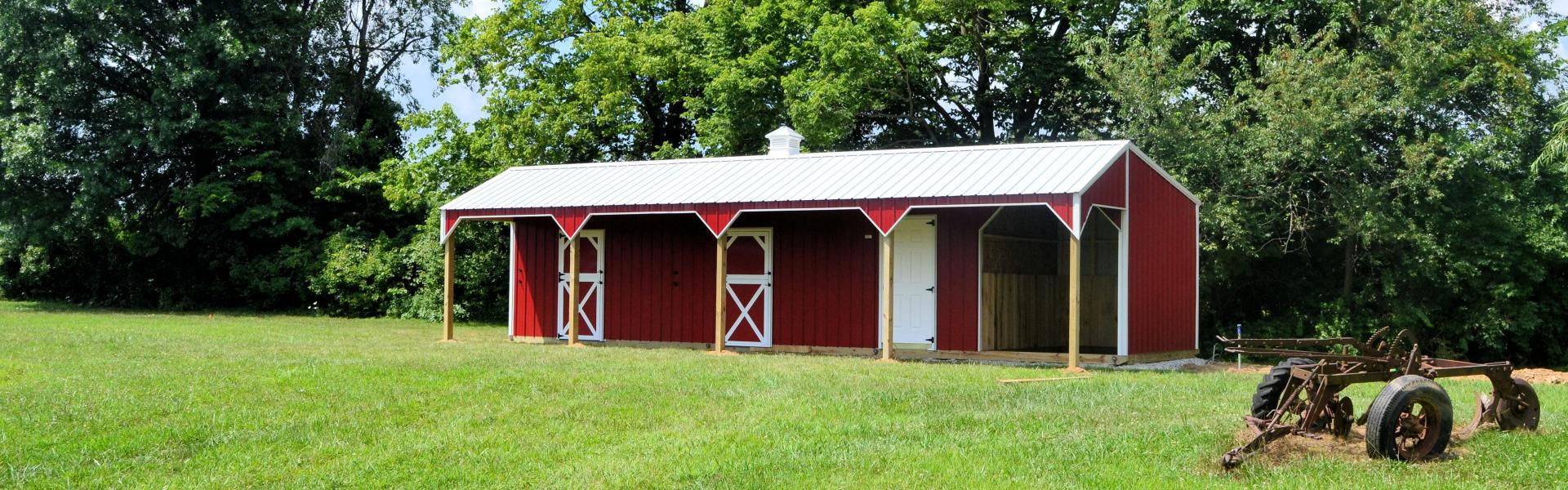 Horse barns protect your horses