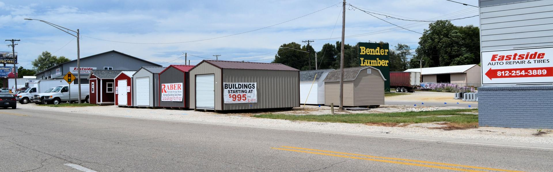 The finest storage sheds in Washington Indiana