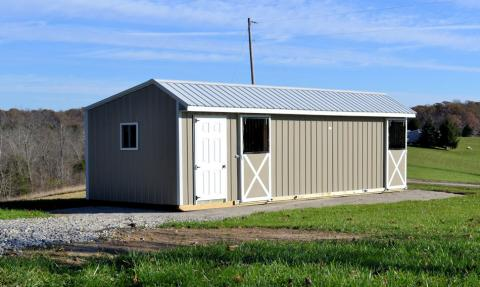 Two stalled barn with optional tack room