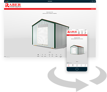 Create the custom economy storage shed of your dreams with Raber's 3D modelling app for your smartphone