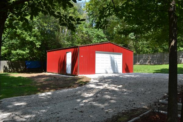 24'x24' garage with 12' door