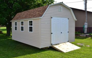 Custom lofted gambrel with 2×3 insulated windows
