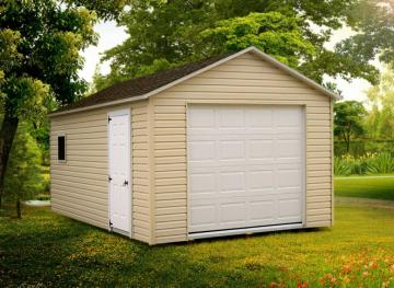 Beige Garage with Door