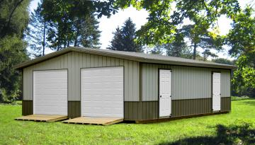 Deluxe Garage With Overhang