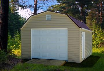 Vinyl Lofted Garage