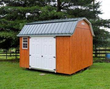 Urethane lofted garden shed