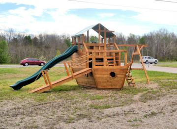 Rent to own this boat swingset for $221.60
