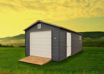 Vinyl Sided Garage