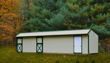 2 stall deluxe horse barn with dutch doors